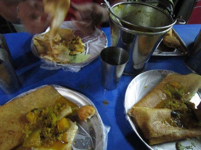 Comida vegetariana tamil | Foto: Almudena Alameda