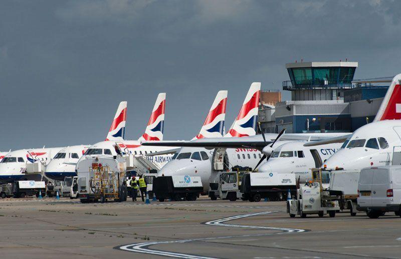 Aviones de British Airways estacionados en la terminal del London City Airport | Foto:London City Airport