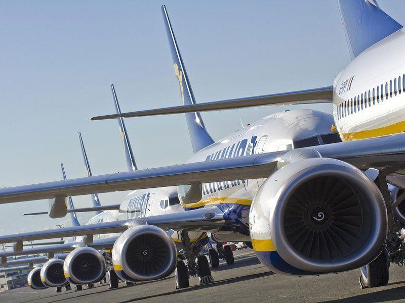 Aviones de Ryanair en parking | Fuente: Ryanair