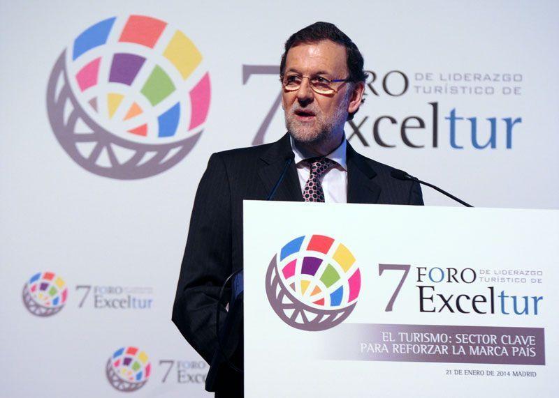 Mariano Rajoy, presidente del Gobierno, en la inauguración del VII Foro Exceltur | Foto: Exceltur