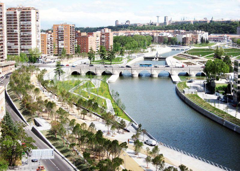 Vista aérea del Puente de Segovia | Foto: Ayuntamiento de Madrid