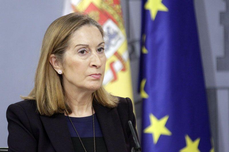 Ana Pastor, ministra de Fomento, en la presentación sobre la salida a bolsa de Aena | Fuente: La Moncloa
