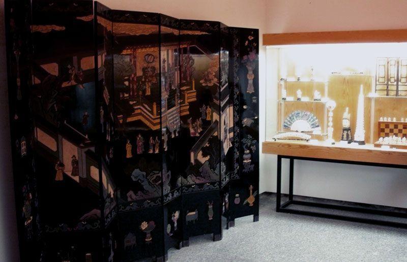 Biombo lacado en el Museo de Arte Oriental de Ávila   Foto: David Fernández
