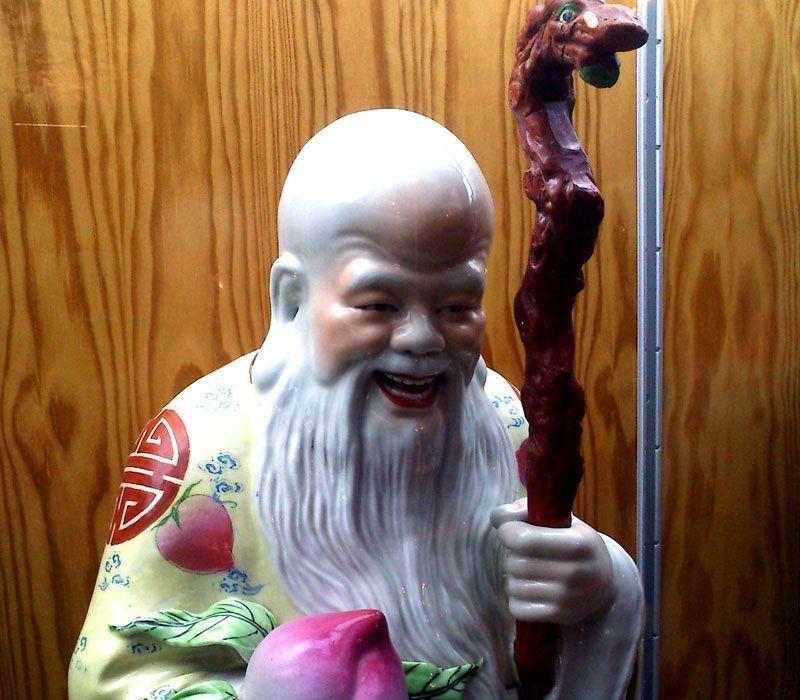 La divinidad de la larga vida Shou-Sing en el Museo de Arte Oriental de Ávila   Foto: David Fernández