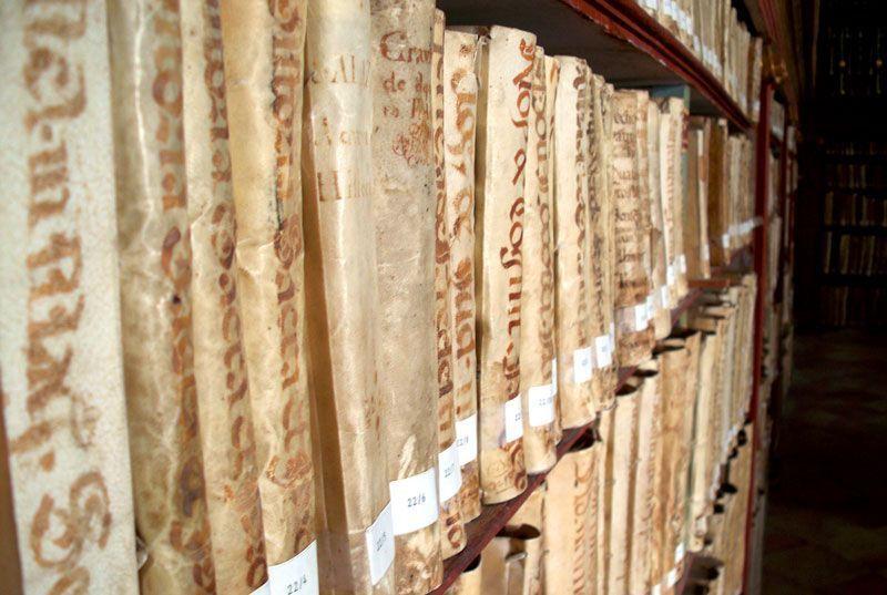 Biblioteca del Monasterio de Yuso en San Millán de la Cogolla (La Rioja)   Foto: David Fernández