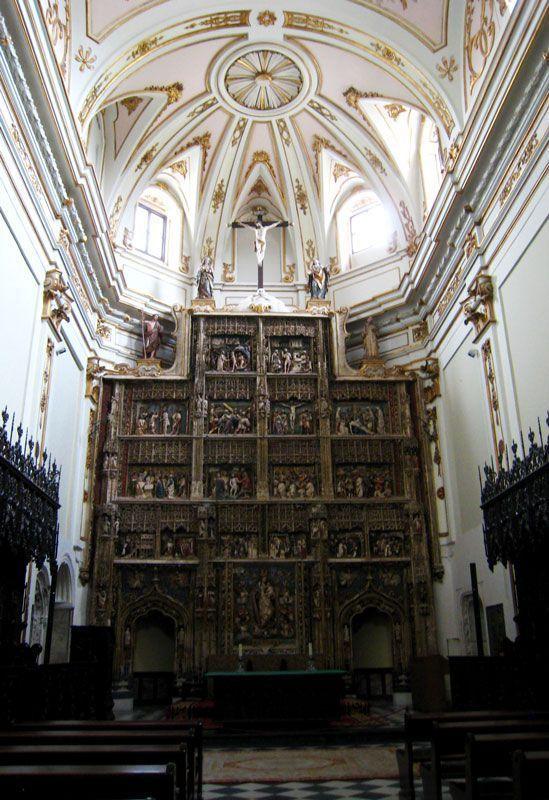 Vista del retablo de alabastro de la iglesia del Monasterio del Paular | Foto: Beatriz de Lucas