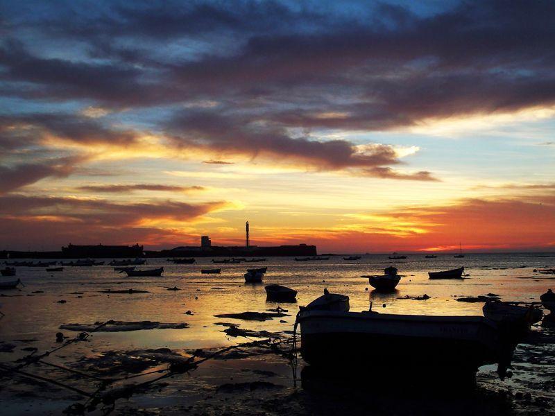 Atardecer en la Playa de la Caleta de Cádiz | Foto: David Fernández