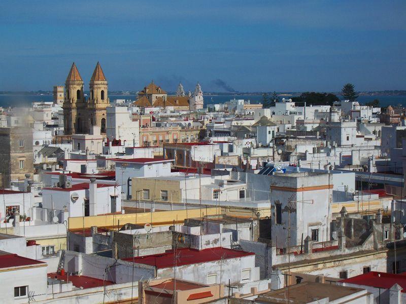 La ciudad de Cádiz vista desde la Torre Tavira | Foto: David Fernández