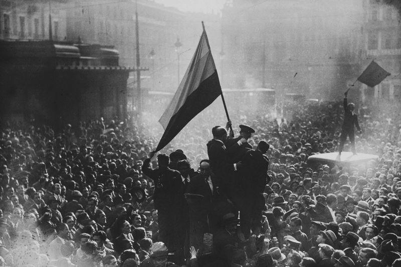 Proclamación popular de la II República en Madrid | Foto: Alfonso