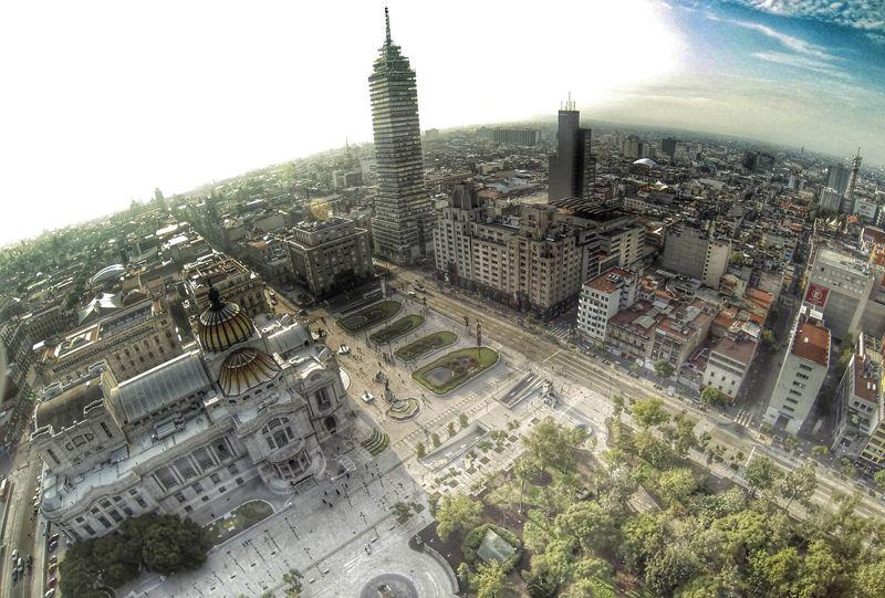 La ciudad de México D. F. vista desde el aire | Foto: Fondo Mixto de Promoción Turística del Distrito Federal