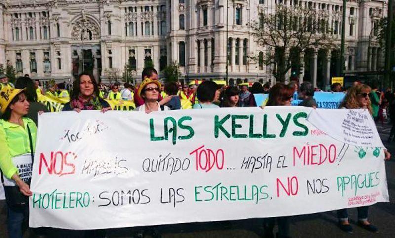 Las Kellys se manifiestan en Madrid