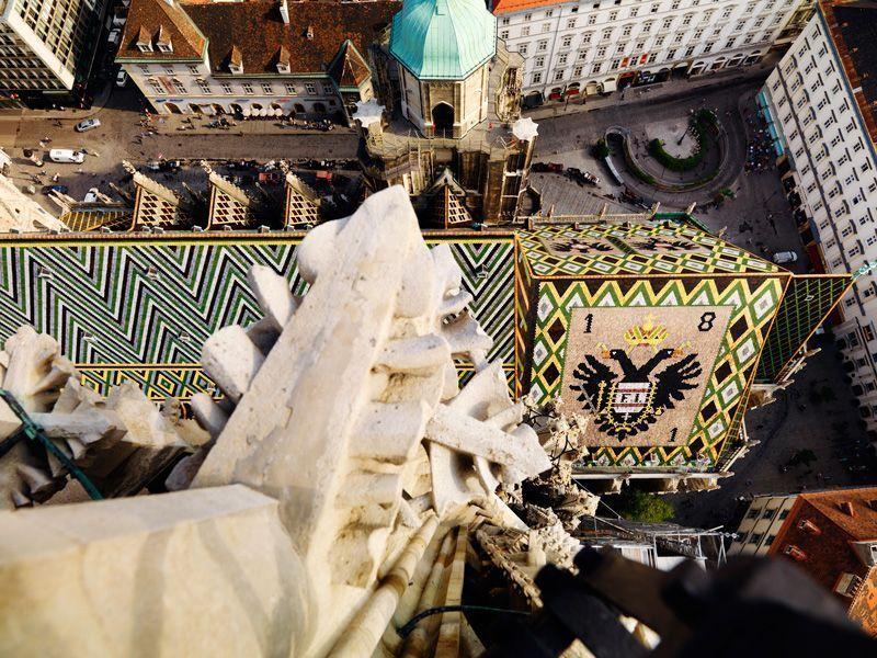 Vista desde la catedral de San Esteban en Viena