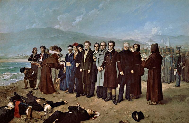 Fusilamiento de Torrijos y sus compañeros en las playas de Málaga, por Antonio Gisbert | Foto: Museo del Prado