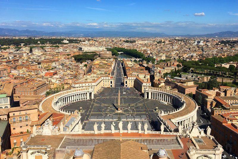 Vista de Roma desde la cúpula de la Basílica de San Pedro | Foto: maxgen para Pixabay