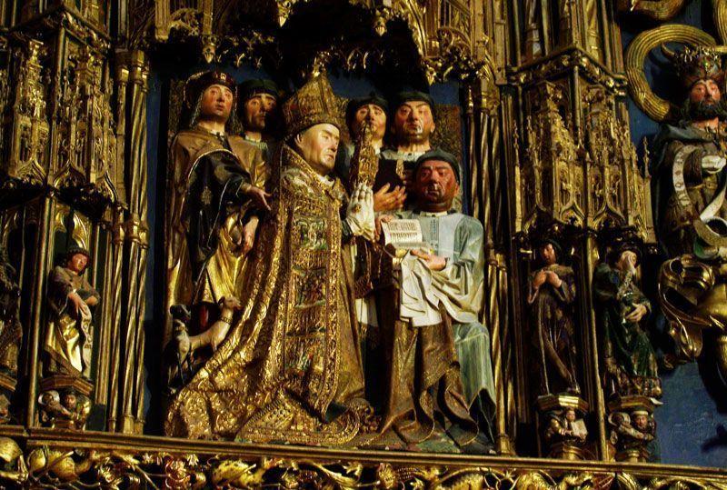 Detalle del retablo de la Capilla de la Natividad en la Catedral de Burgos   Foto: David Fernández