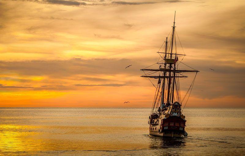 Barco con puesta de sol | Foto: 851878 para Pixabay