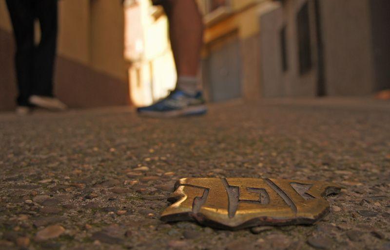 Señales de la Red de Juderías que marca el barrio judío en Calahorra | Foto: Beatriz de Lucas Luengo