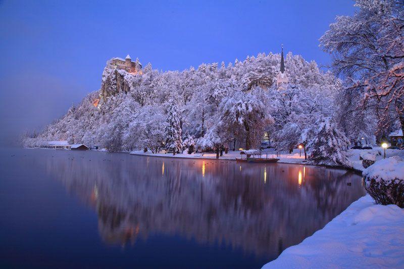 Castillo de Bled en plena Navidad | Foto: Oficina de Turismo de Bled