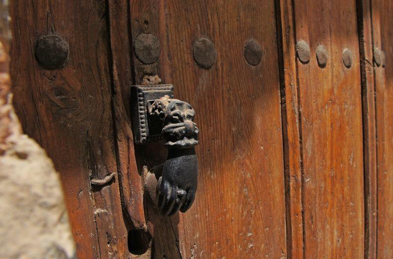 Llamador en una casa de la judería vieja de Tudela | Foto: Beatriz de Lucas Luengo