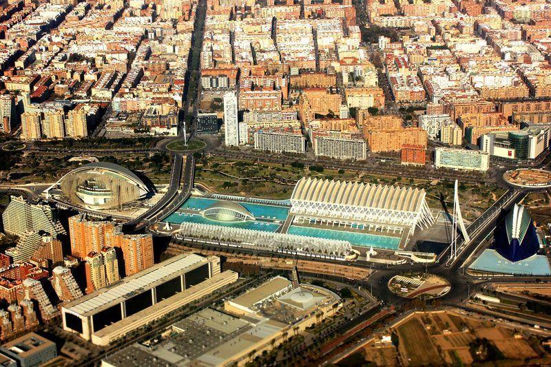 Vista aérea de Valencia | Foto: Themil para Pixabay