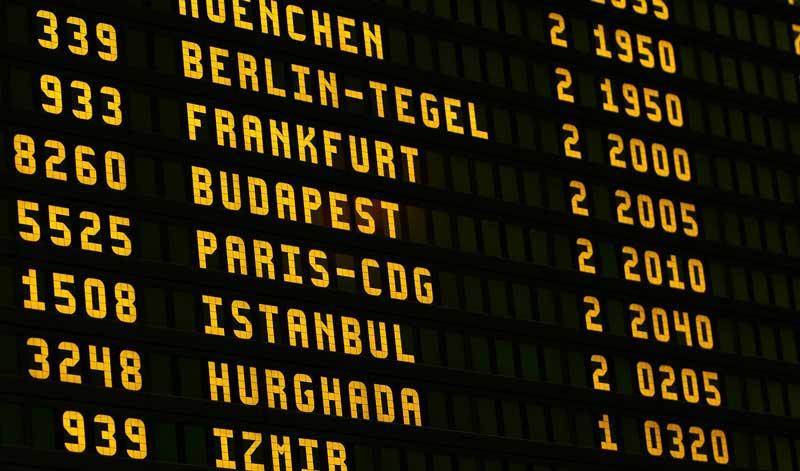 Pantalla de aeropuerto | Foto: Pixabay
