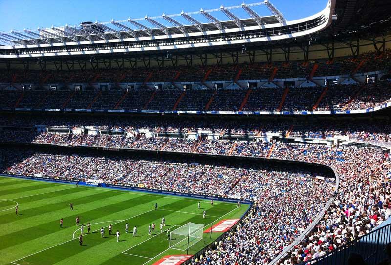 Estadio Santiago Bernabéu, del Real Madrid   Foto: Pixabay