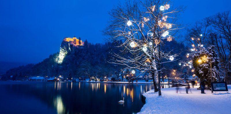 Vista invernal de Bled- foto ONT Bled