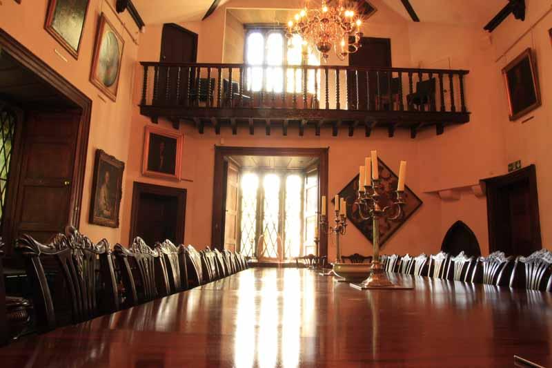 Comedor del castillo. Foto de: ALBERTO PERAL