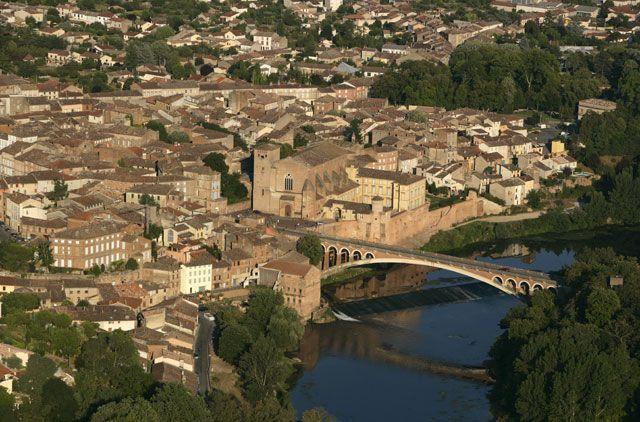 Vista aérea de Gaillac, ciudad del vino | Foto: Comité regional de turismo del Tarn