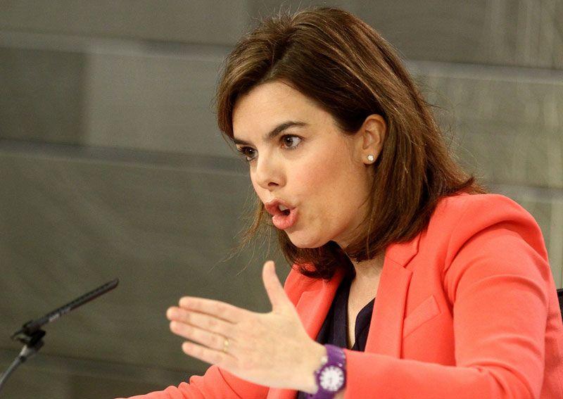 Soraya Sáenz, vicepresidenta del Gobierno, explicando el proyecto de Ley de Emprendedores | Foto: La Moncloa