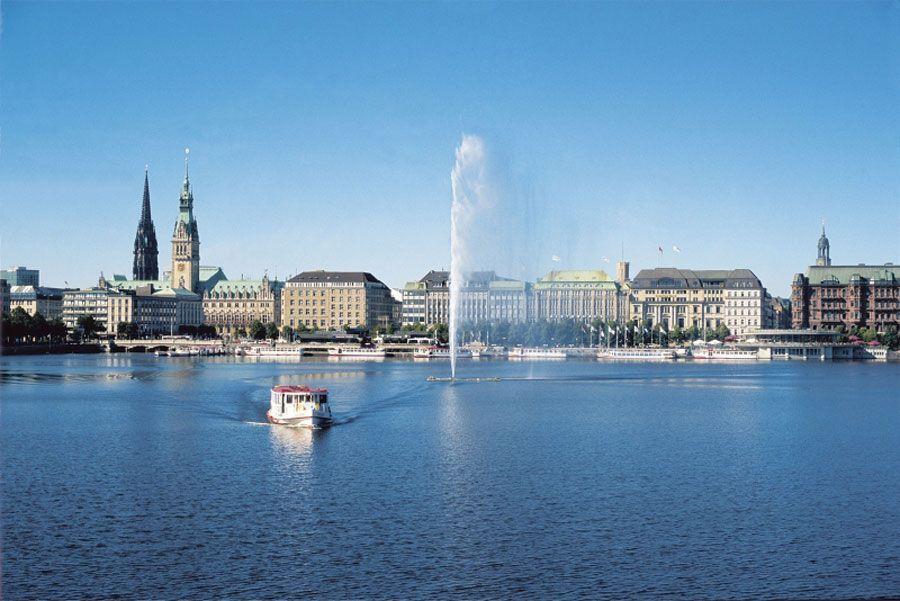 Vista de la ciudad de Hamburgo
