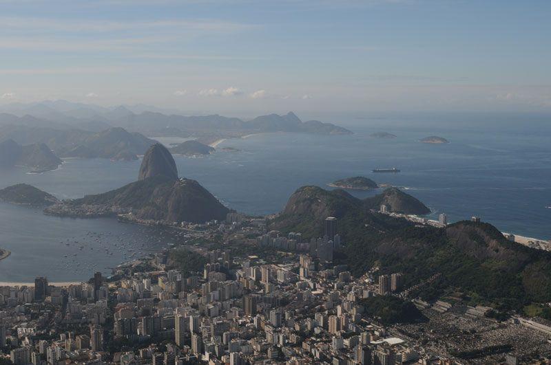 Vista de la bahía de Río de Janeiro desde el Cerro del Corcovado | Foto: Ricardo Labastier