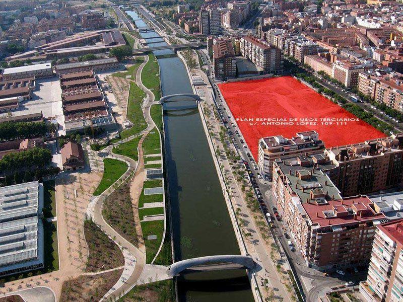 Parcela en la que se ubicará el hotel de Madrid Río | Foto: Ayuntamiento de Madrid