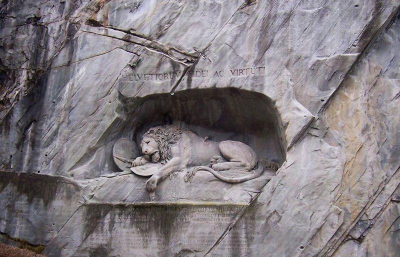 El famoso león de Lucerna | Foto: Turismo de Lucerna