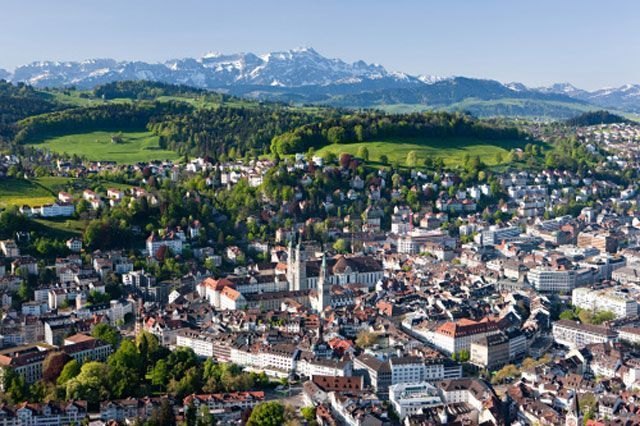 Vista aérea de la ciudad de Lucerna | Foto: Turismo de Lucerna