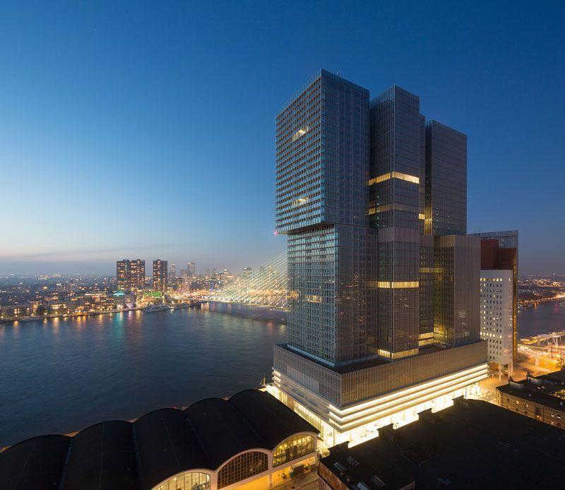 De Rotterdam, el nuevo edificio en el puerto de la ciudad