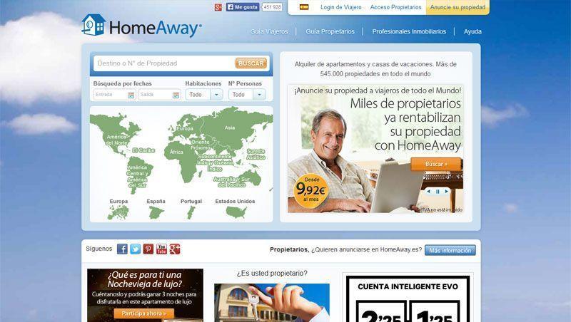 Portal español de Homeaway