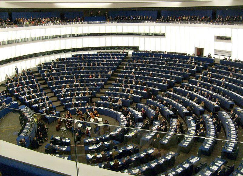 Hemiciclo del Parlamento europeo en Estrasburgo (Francia)