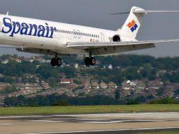 Avión MD-83 de Spanair aterrizando | Foto: 54north para Wikipedia
