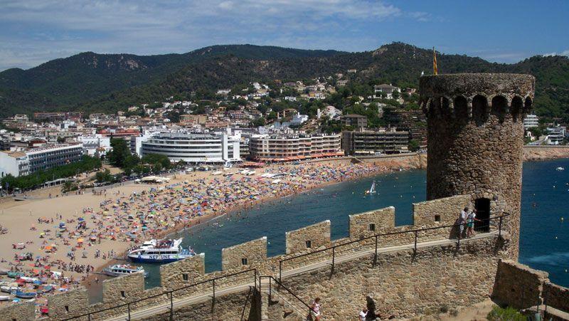 Playa de Tossa de Mar (Gerona) desde el castillo | Foto: David Fernández