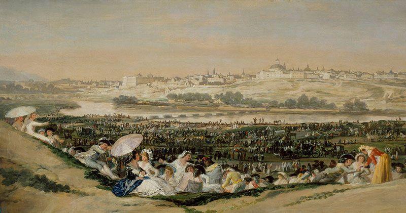 Madrid visto desde la pradera de San Isidro, por Francisco de Goya | Fuente: Museo del Prado