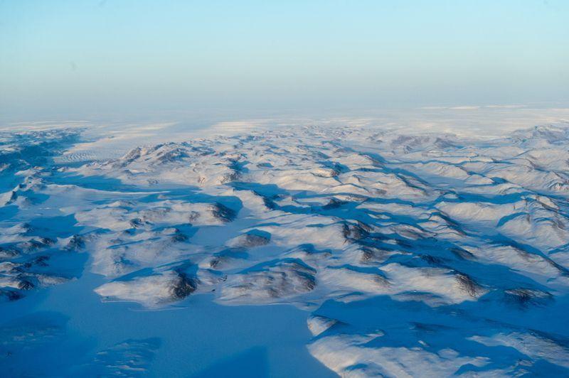 Vista de la capa de hielo en Groenlandia   Foto: Mark Garten/ONU