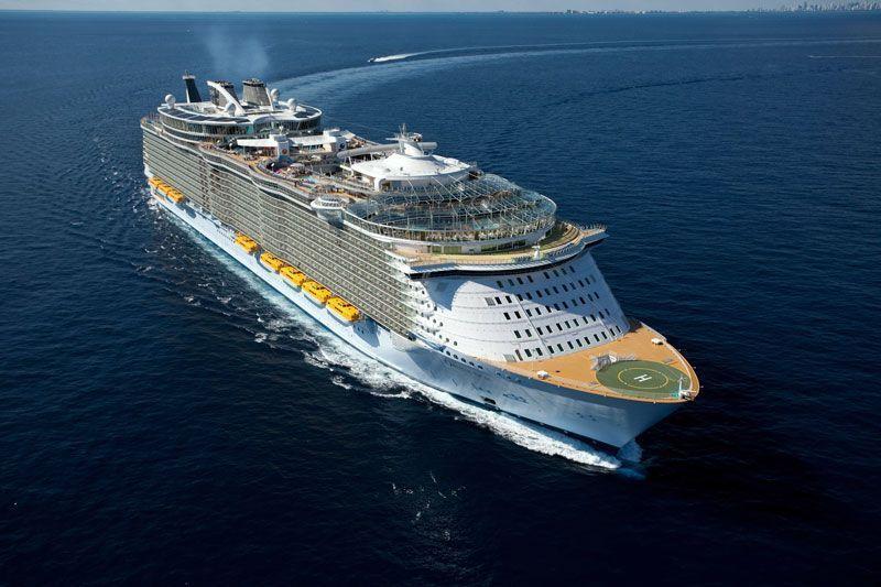 El Oasis of the Seas, de Royal Caribbean, uno de los barcos con más capacidad del mundo | Foto: Royal Caribbean