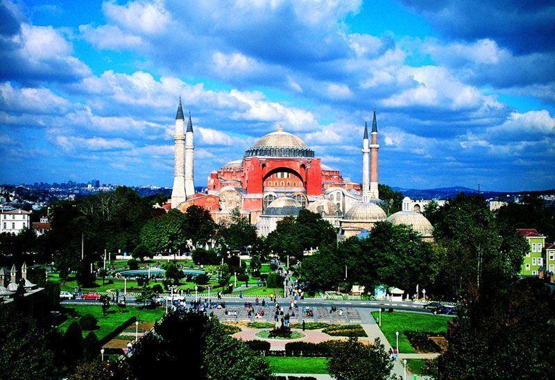 Vista artística de Santa Sofía | Foto: Turismo de Turquía