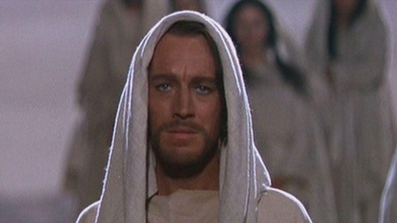 El actor Willem Dafoe caracterizado como Jesús de Nazaret