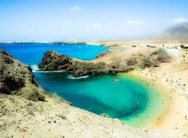 Playa del Papagayo en Lanzarote