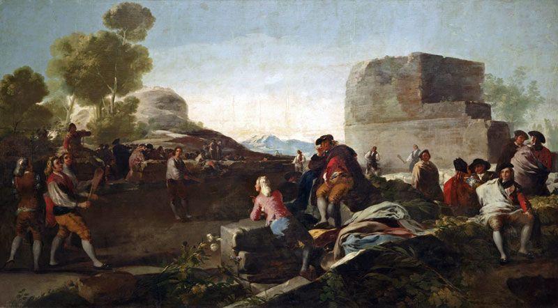 El juego de pelota a pala, de Francisco de Goya | Fuente: Museo del Prado
