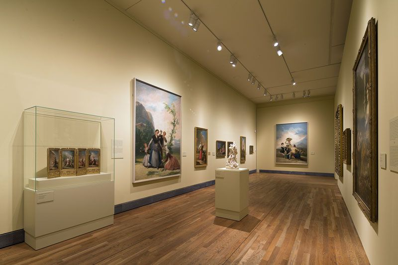 Una de las salas de la exposición 'Goya en Madrid'   Fuente: Museo del Prado