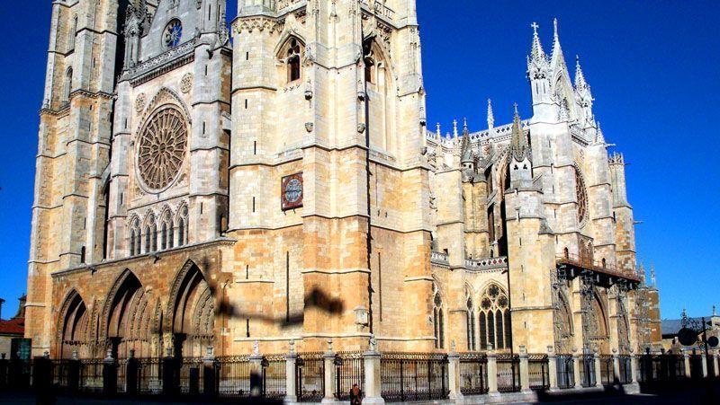 Fachada de la catedral de León   Foto: David Fernández
