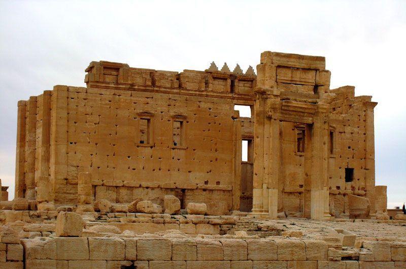 Portada del Templo de Zeus en Palmira (Siria) | Foto: Beatriz de Lucas